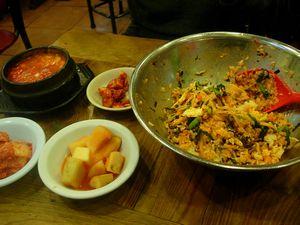 初日の夕食